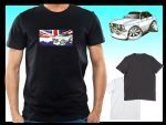 KOOLART CLASSIC BRITISH Design for Retro Mk2 Ford Escort Mexico mens or ladyfit t-shirt